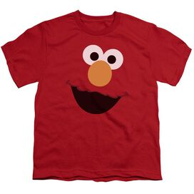 Sesame Street Elmo Face Short Sleeve Youth T-Shirt