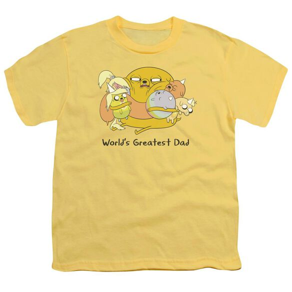 Adventure Time Worlds Greatest Dad Short Sleeve Youth T-Shirt