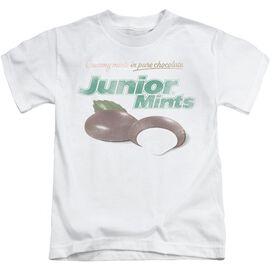 Tootsie Roll Junior Mints Logo Short Sleeve Juvenile White T-Shirt