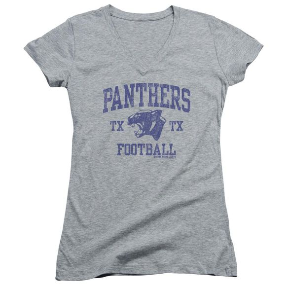 Friday Night Lights Panther Arch Junior V Neck Athletic T-Shirt
