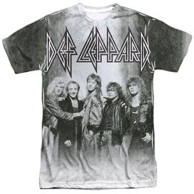 Def Leppard The Band Short Sleeve Adult Poly Crew T-Shirt