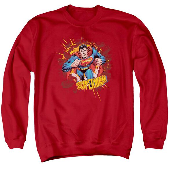 Superman Sorry About The Wall Adult Crewneck Sweatshirt