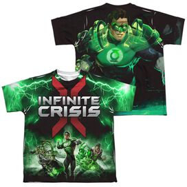 Infinite Crisis Ic Green Lantern (Front Back Print) Short Sleeve Youth Poly Crew T-Shirt
