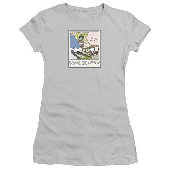 Regular Show Instant Picture Short Sleeve Junior Sheer T-Shirt