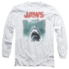 Jaws Vintage Poster Long Sleeve Adult T-Shirt