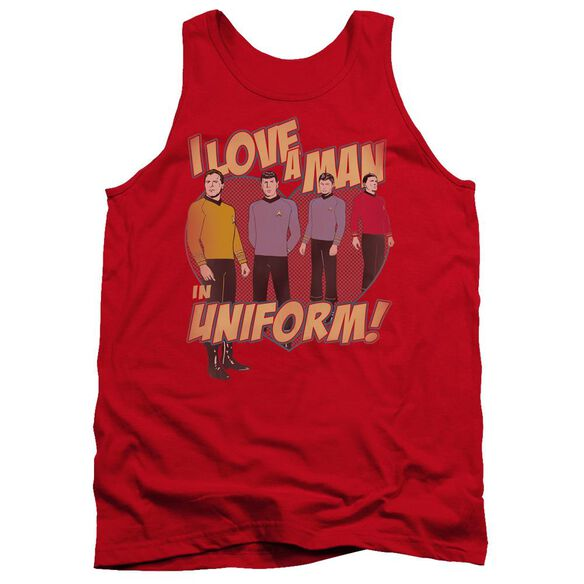 Star Trek Man In Uniform Adult Tank