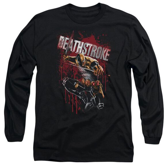 Jla Blood Splattered Long Sleeve Adult T-Shirt