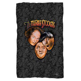 Three Stooges Stooges All Over Fleece Blanket