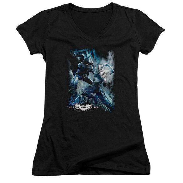 Dark Knight Rises Showdown Junior V Neck T-Shirt