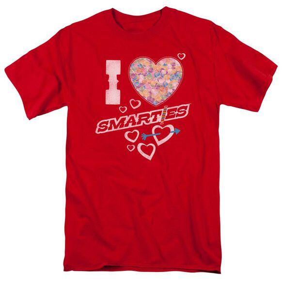 Smarties I Heart Smarties Short Sleeve Adult T-Shirt