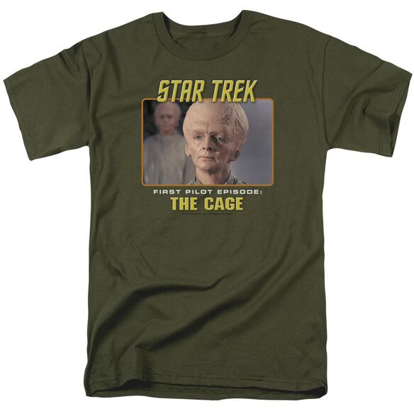 St Original The Cage Short Sleeve Adult Military Green T-Shirt