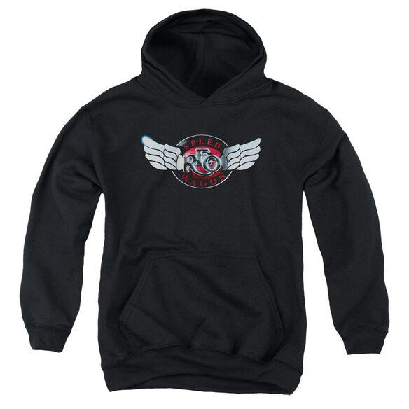 Reo Speedwagon Rendered Logo Youth Pull Over Hoodie