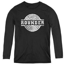ROUNDER ROUNDER RETRO - WOMENS LONG SLEEVE TEE - BLACK