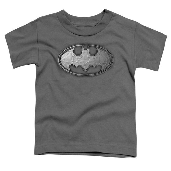 Batman Duct Tape Logo Short Sleeve Toddler Tee Charcoal T-Shirt