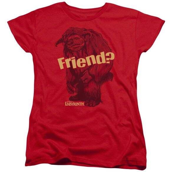 Labyrinth Ludo Friend Short Sleeve Womens Tee T-Shirt