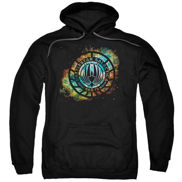 Battlestar Galactica (New) Emblem Knock Out Adult Pull Over Hoodie