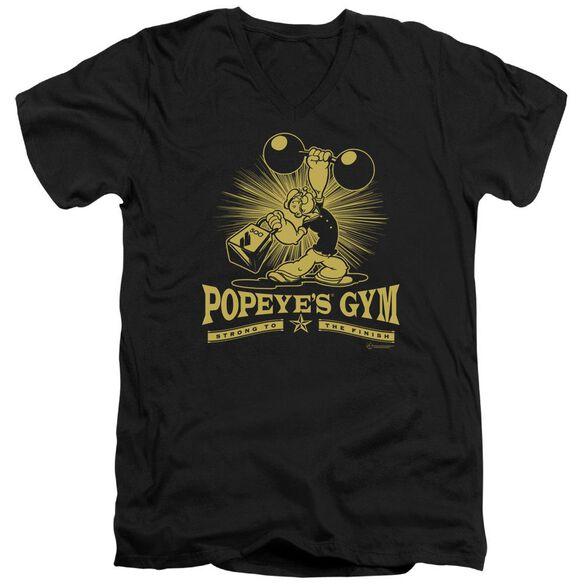 Popeye Popeyes Gym Short Sleeve Adult V Neck T-Shirt