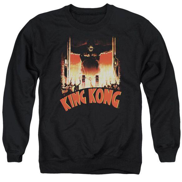 King Kong At The Gates Adult Crewneck Sweatshirt
