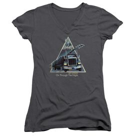 Def Leppard On Through The Night Junior V Neck T-Shirt
