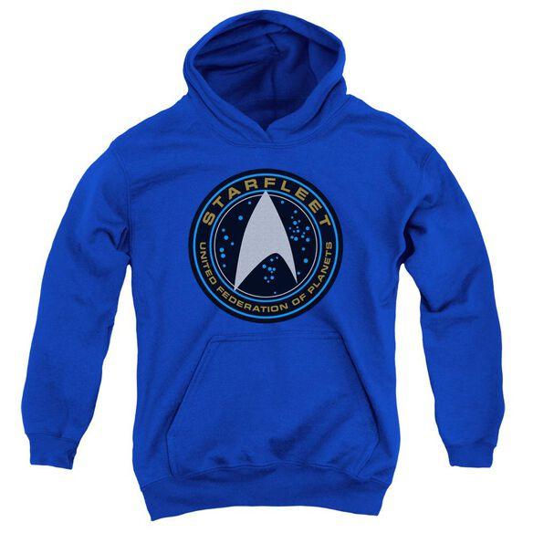 Star Trek Beyond Starfleet Patch Youth Pull Over Hoodie Royal