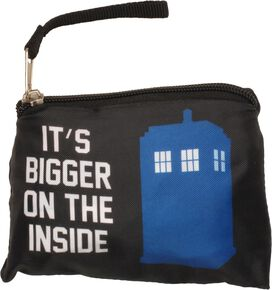 Doctor Who Tardis Bigger Compact Packable Tote Bag