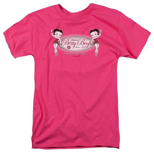 Betty Boop Classic Boop Short Sleeve Adult Hot Pink T-Shirt