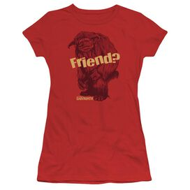 Labyrinth Ludo Friend Short Sleeve Junior Sheer T-Shirt