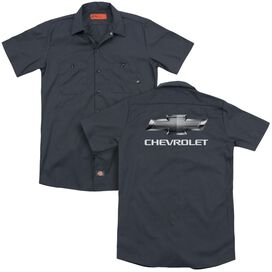 Chevy Chevy Bowtie (Back Print) Adult Work Shirt