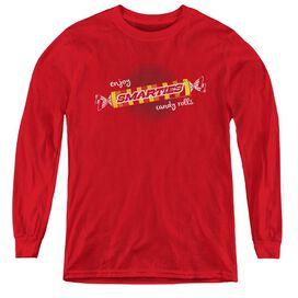 Smarties Enjoy - Youth Long Sleeve Tee - Red