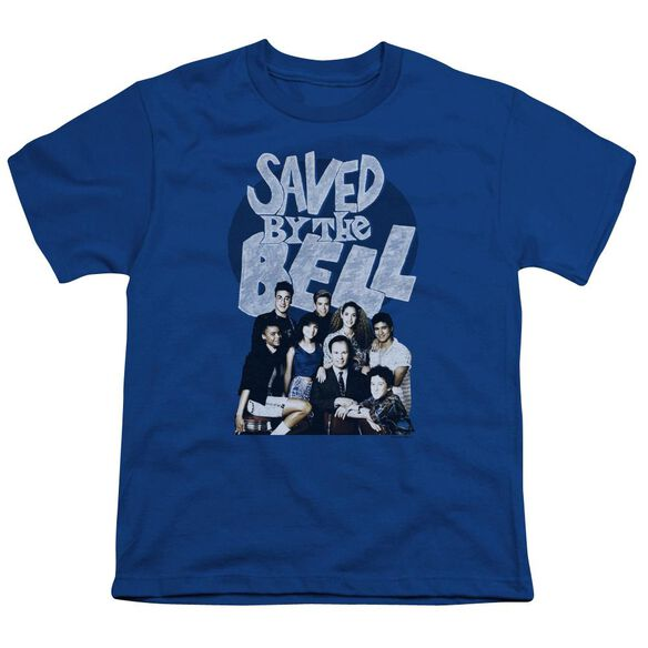 Saved By The Bell Retro Cast Short Sleeve Youth Royal T-Shirt