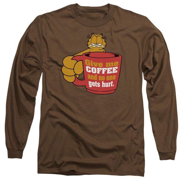 Garfield Give Me Long Sleeve Adult T-Shirt