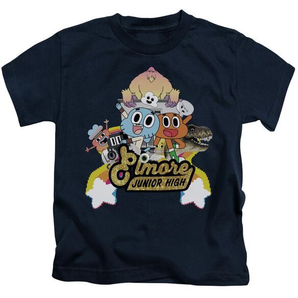Amazing World Of Gumball Elmore Junior High Short Sleeve Juvenile T-Shirt