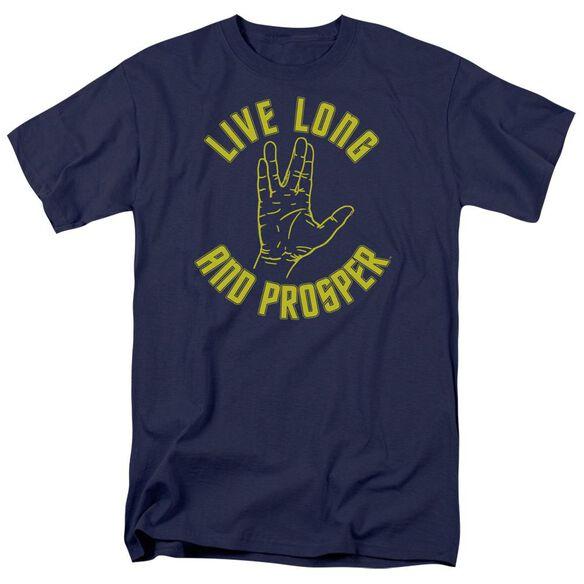 Star Trek Live Long Hand Short Sleeve Adult T-Shirt
