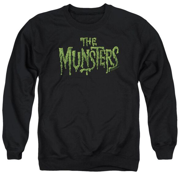 The Munsters Distress Logo Adult Crewneck Sweatshirt