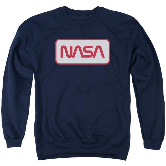 Nasa Rectangular Logo Adult Crewneck Sweatshirt