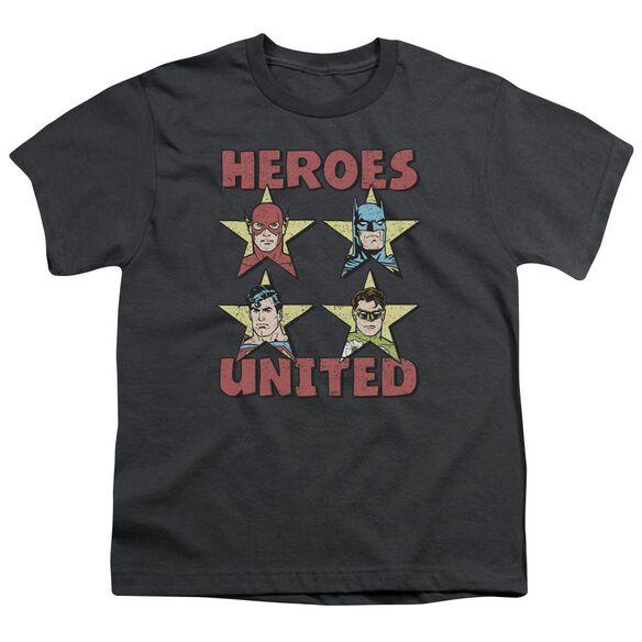 Jla United Stars Short Sleeve Youth T-Shirt