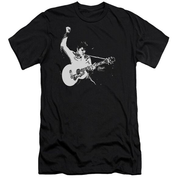 Elvis Black&White Guitarman Premuim Canvas Adult Slim Fit