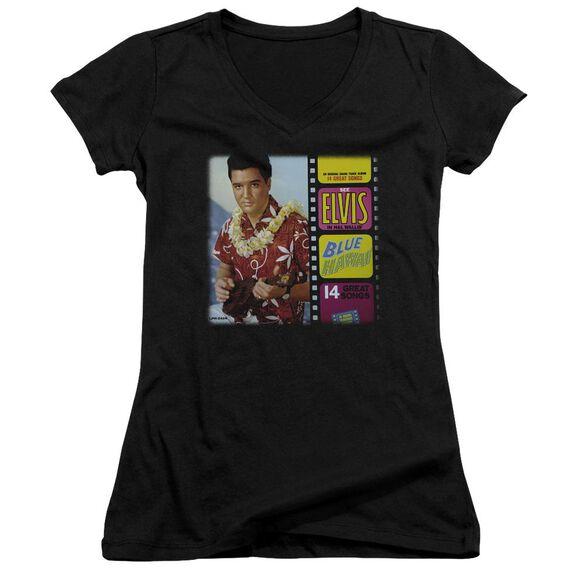 Elvis Blue Hawaii Album Junior V Neck T-Shirt