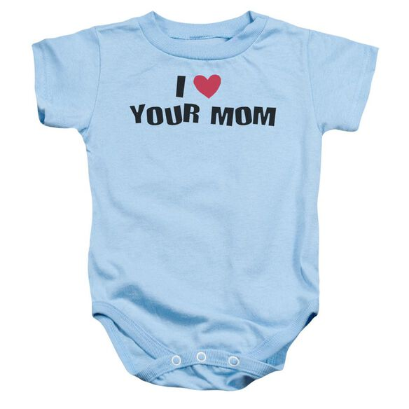 I Love Your Mom Infant Snapsuit Light Blue Md