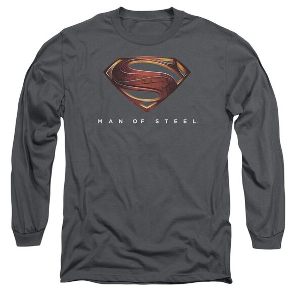 Man Of Steel Mos New Logo Long Sleeve Adult T-Shirt