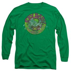 Dubble Bubble Logo Long Sleeve Adult Kelly T-Shirt