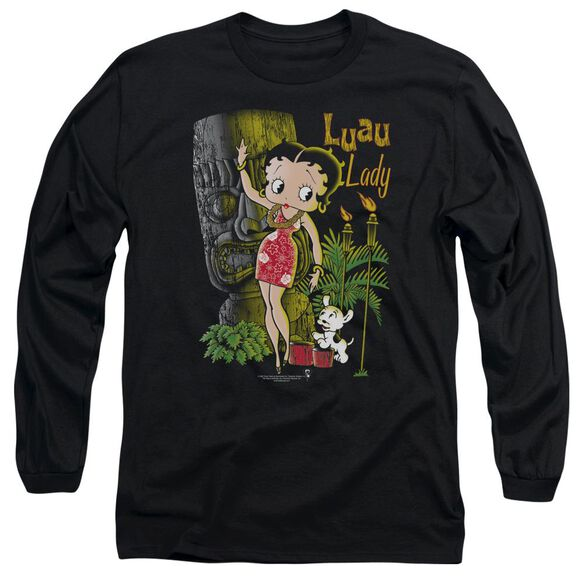 Betty Boop Luau Lady Long Sleeve Adult T-Shirt