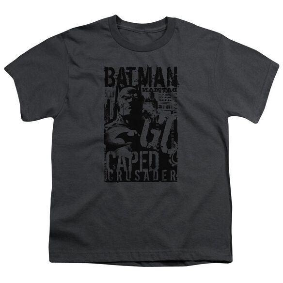 Batman Caped Crusader Short Sleeve Youth T-Shirt