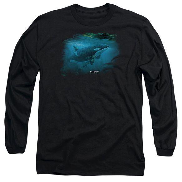 Wildlife Pursuit Thru The Kelp Orca Long Sleeve Adult T-Shirt