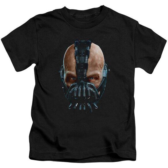 Dark Knight Rises Painted Bane Short Sleeve Juvenile Black T-Shirt