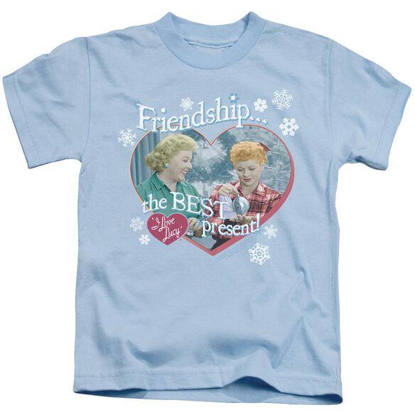 I Love Lucy The Best Present Short Sleeve Juvenile Light T-Shirt