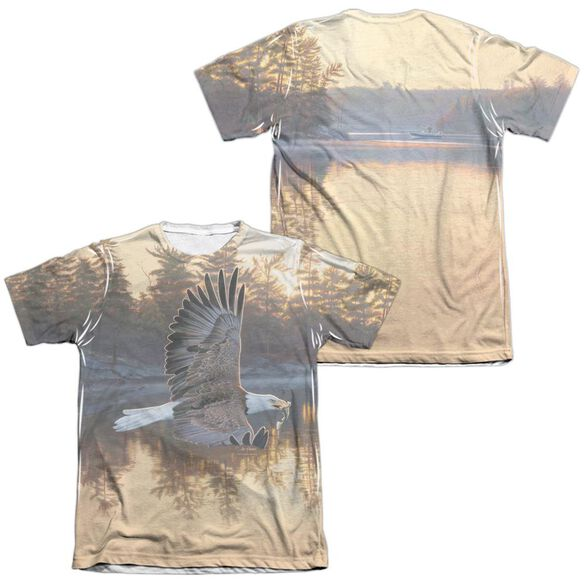 Wild Wings Gone Fishing (Front Back Print) Adult Poly Cotton Short Sleeve Tee T-Shirt