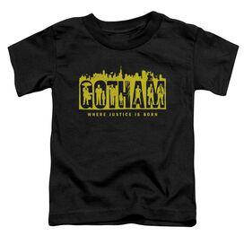 Gotham Silhouettes Short Sleeve Toddler Tee Black T-Shirt