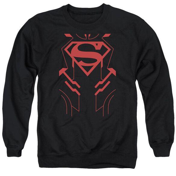 Jla Superboy Adult Crewneck Sweatshirt