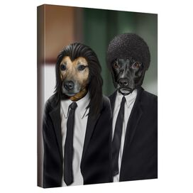 Pets Rock Hit Dogs Canvas Wall Art With Back Board
